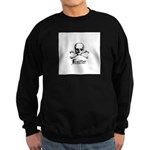 Knitter - Crafty Pirate Skull Sweatshirt (dark)