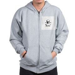 Knitter - Crafty Pirate Skull Zip Hoodie