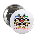 "Joy to the World Penguins 2.25"" Button (10 pack)"