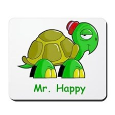 Mr. Happy cartoon turtle Mousepad