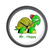 Mr. Happy cartoon turtle Wall Clock