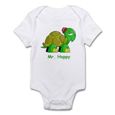 Mr. Happy cartoon turtle Infant Bodysuit