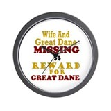 Wife & Great Dane Missing Wall Clock