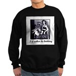 I'd Rather Be Knitting Sweatshirt (dark)