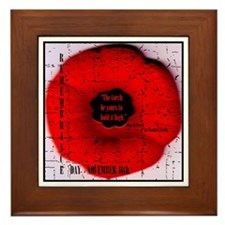 Remembrance Day Framed Tile