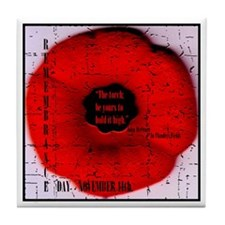 Remembrance Day Tile Coaster