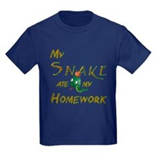 My Snake Ate My Homework Kids T-Shirt
