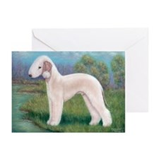 Bedlington (Standing) Greeting Cards (Pk of 20)