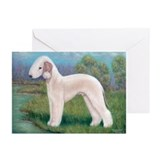 Bedlington (Standing) Greeting Cards (Pk of 10)
