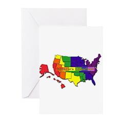 america's gayborhood Greeting Cards (Pk of 10)