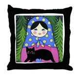 Matryoshka Babushka Girl Doll Folk ART Pillow