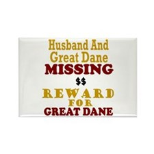 Husband & Great Dane Missing Rectangle Magnet
