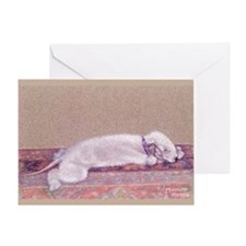 Bedlington-Sweet Dreams Greeting Card
