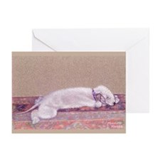 Bedlington-Sweet Dreams Greeting Cards (Pk of 10)