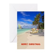 Funny Christmas beach Greeting Cards