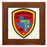 Denton Dispatcher Framed Tile