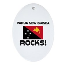 Papua New Guinea Rocks! Oval Ornament