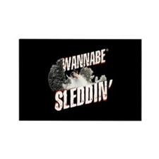 Wannabe Sleddin' Rectangle Magnet (10 pack)