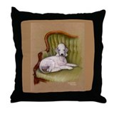 Bedlington-Her Royal Highness Throw Pillow