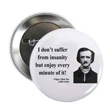 "Edgar Allan Poe 17 2.25"" Button (100 pack)"