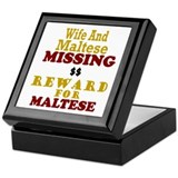 Wife & Maltese Missing Keepsake Box