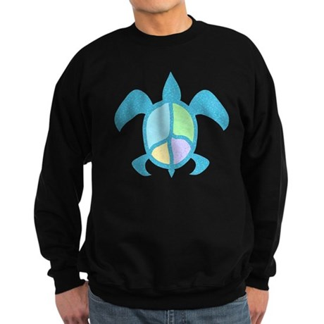 Peace Sea Turtle Sweatshirt (dark)