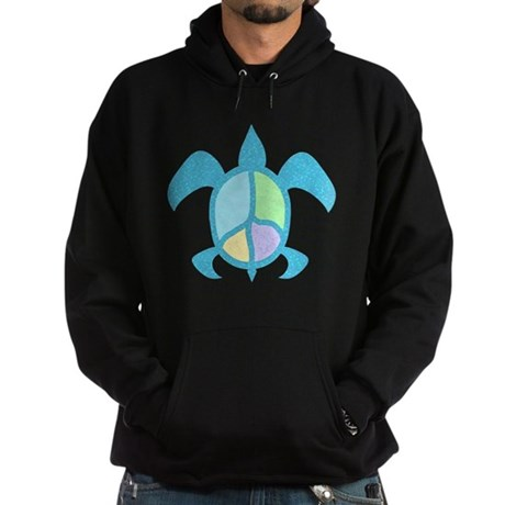 Peace Sea Turtle Hoodie (dark)