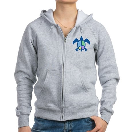 Peace Sea Turtle Women's Zip Hoodie