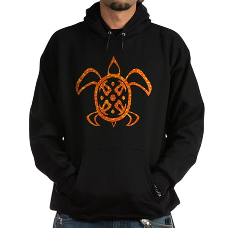 Orange Sea Turtle Hoodie (dark)