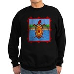 Southwestern Sea Turtle Scene Sweatshirt (dark)