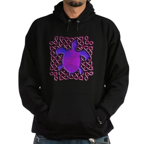 Celtic Knot Turtle (Purple) Hoodie (dark)