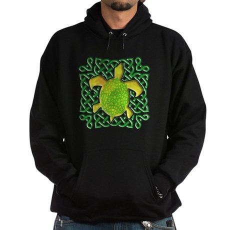 Celtic Knot Turtle (Green) Hoodie (dark)