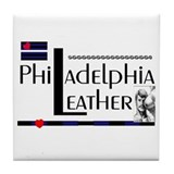 philadelphia leather Tile Coaster