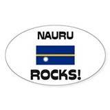 Nauru Rocks! Oval Decal