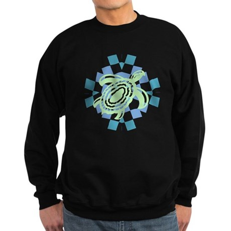 Green Cutout Turtle Sweatshirt (dark)