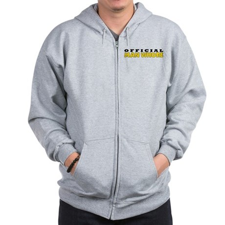Official Man Whore Zip Hoodie
