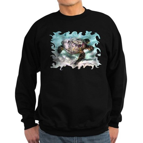 Swimming Sea Turtle Sweatshirt (dark)