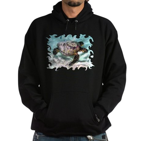 Swimming Sea Turtle Hoodie (dark)