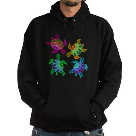 Multi Painted Turtles Hoodie (dark)