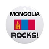 Mongolia Rocks! Ornament (Round)