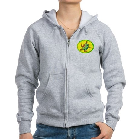 Distressed Turtle Women's Zip Hoodie