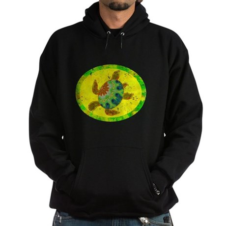 Distressed Turtle Hoodie (dark)