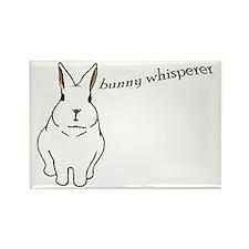 bunny whisperer Rectangle Magnet