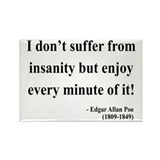 Edgar Allan Poe 17 Rectangle Magnet