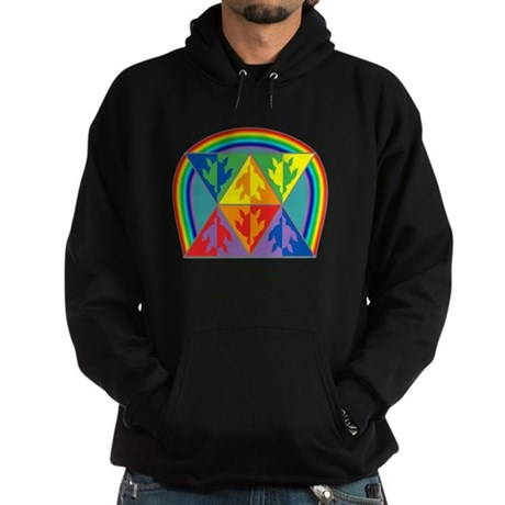 Turtle Triangle Rainbow Hoodie (dark)
