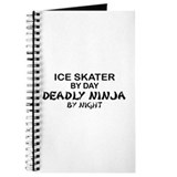 Ice Skater Deadly Ninja by Night Journal