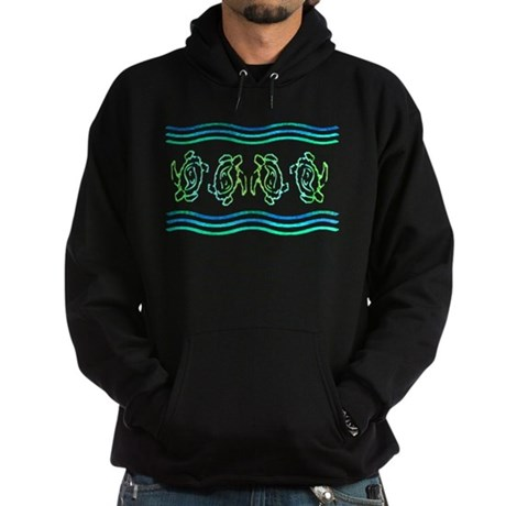 Turtles in Waves Hoodie (dark)