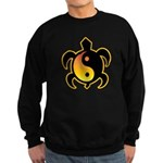 Gold Yin Yang Turtle Sweatshirt (dark)
