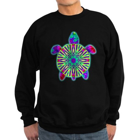 Colorful Sea Turtle Sweatshirt (dark)