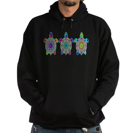 Colorful Sea Turtle Hoodie (dark)